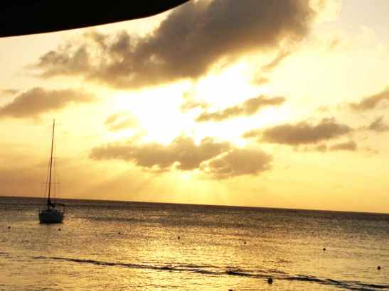 Sunset in Roatan, Honduras