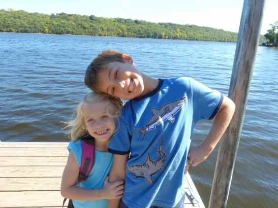 Max and Sophia at Afton State Park this fall