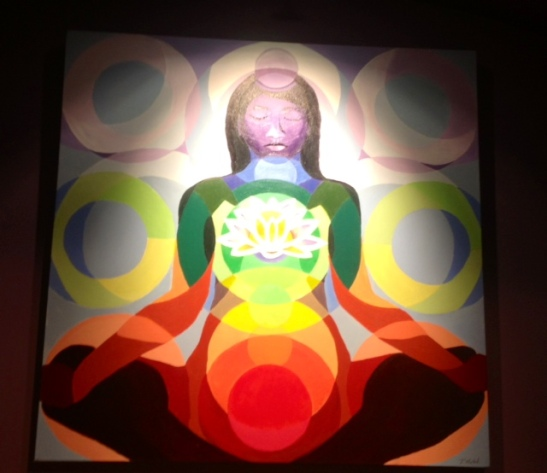 Photo of a piece of art painted by one of our yoga instructors at the Minneapolis Yoga Center.