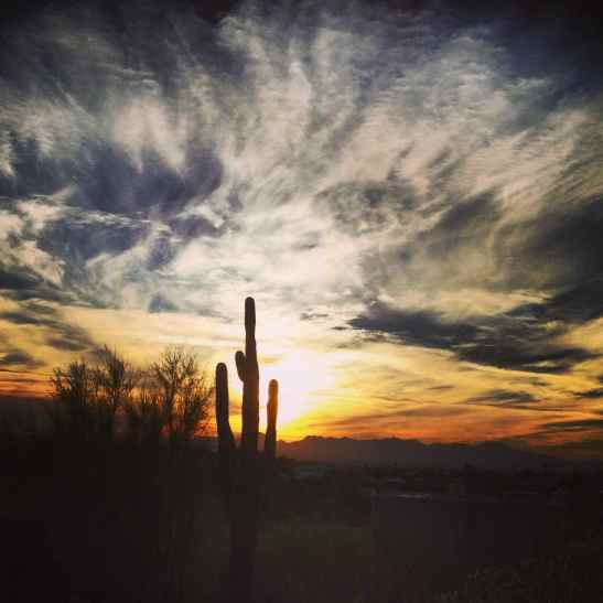Sunset over the Arizona Desert