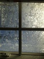 frosted window pane